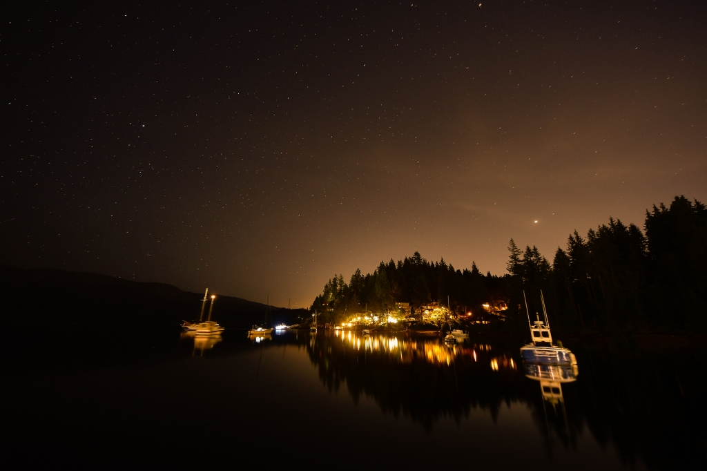 Deep-Cove-Stars-Long-Exposure-Night